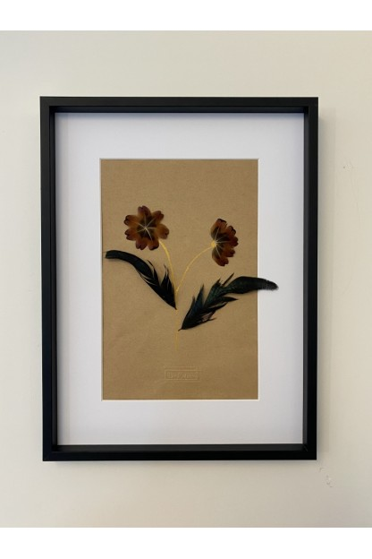 Feather Frame : Gold