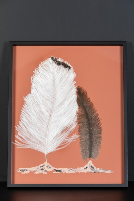Feathers Frame : Forest Sienne