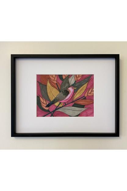 Feathers Frame : Color Block Bird