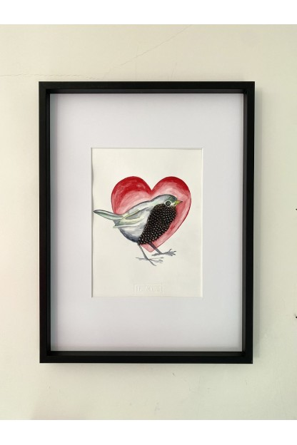 Feathers Frame : Love Bird